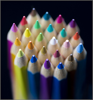 Coloured Pencils, by Flickr Member Rex Boggs